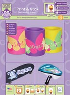 Purple Chimp Print & Stick Decorating Sheets Packaging by June Tailor